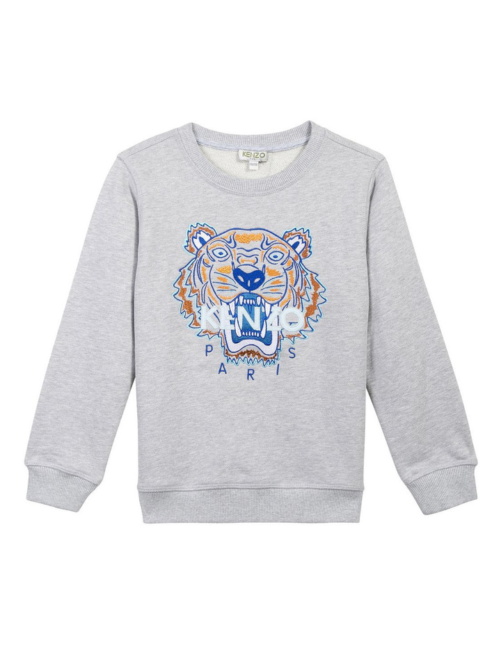 Girls Embroidered Tiger Sweat Top image 1