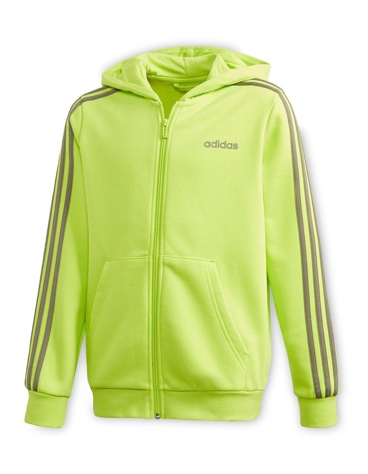 Youth Boys Essentials 3 Stripes Full Zip H image 2