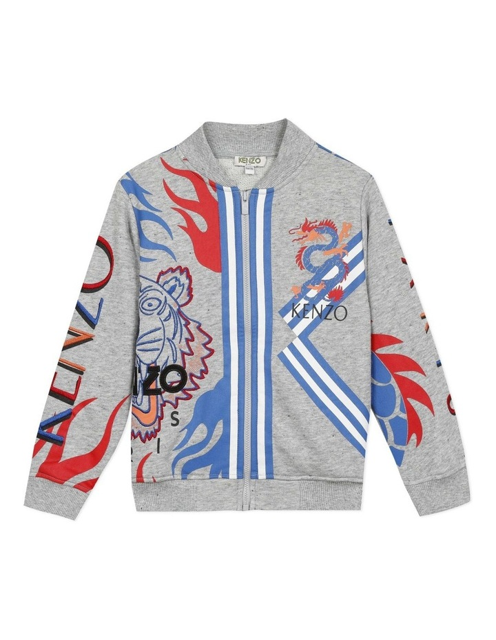 Embroidered and Printed Zip Front Sweat - Jameson (14) image 1