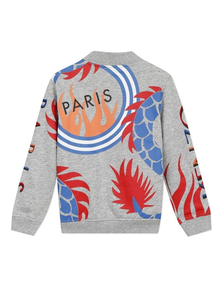 Embroidered and Printed Zip Front Sweat - Jameson (14) image 2