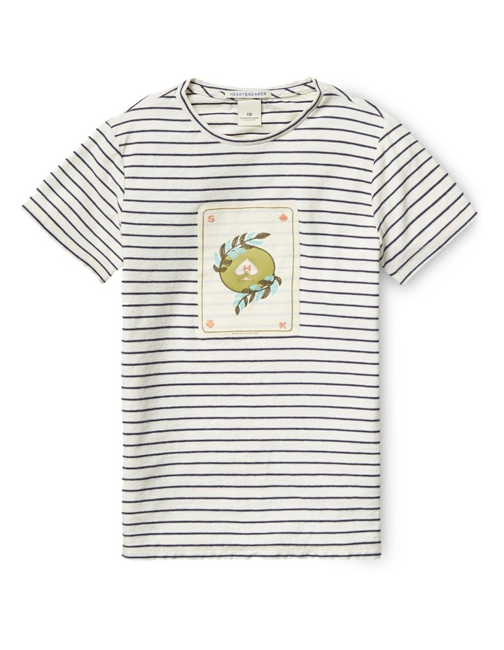 Tee with Worked Out Embroidered Artworks image 1