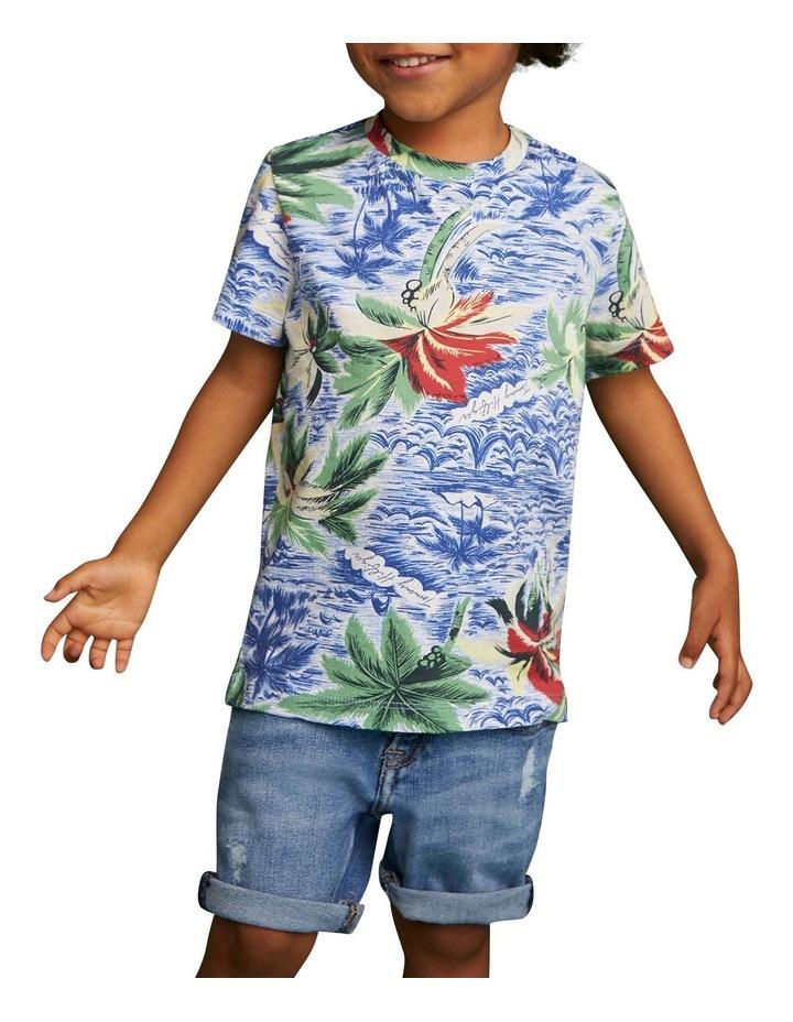 Tropical Print Crew Neck T-Shirt image 3