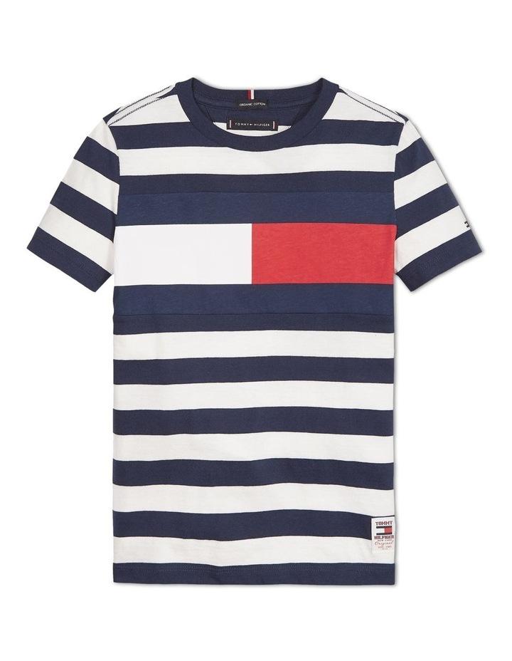 Boys 0-2 Organic Cotton Stripe T-Shirt image 1