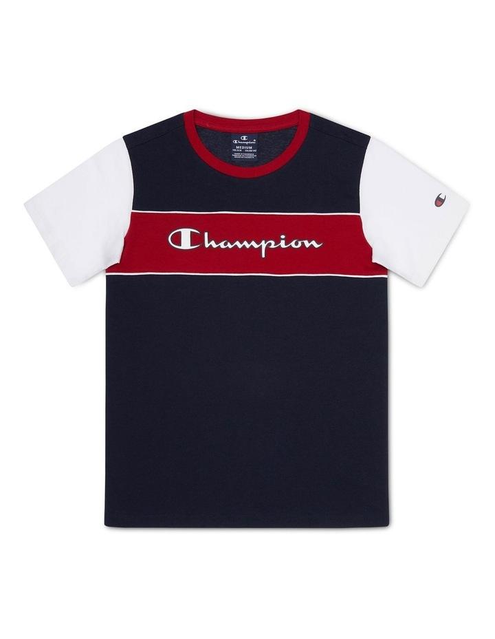 EU Boys Colour Block Short Sleeve Tee image 1