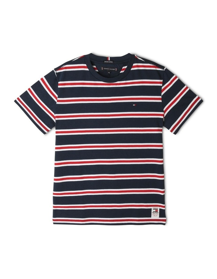 Multicolour Stripe Organic Cotton T-Shirt image 1