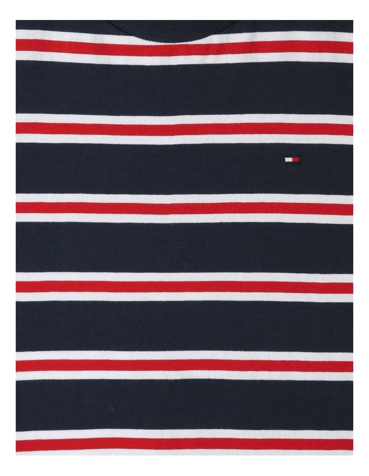 Multicolour Stripe Organic Cotton T-Shirt image 2