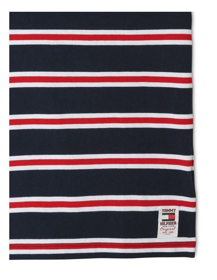 Multicolour Stripe Organic Cotton T-Shirt image 3
