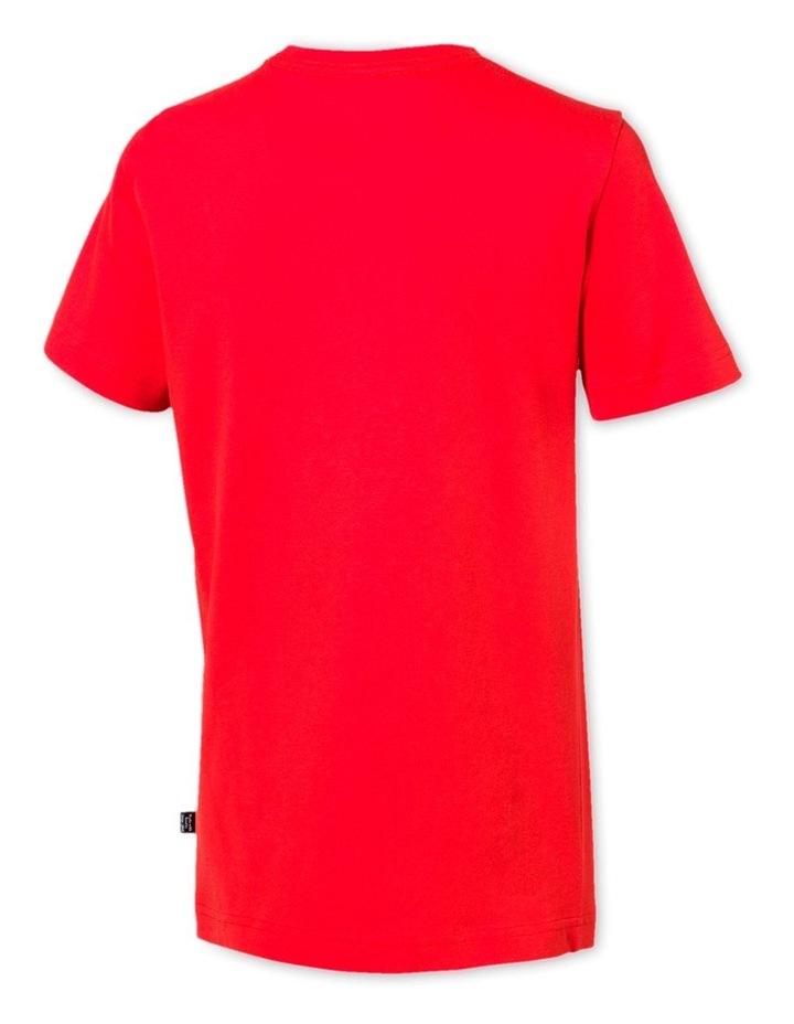 Boys Essential Logo Tee High Risk Red image 2