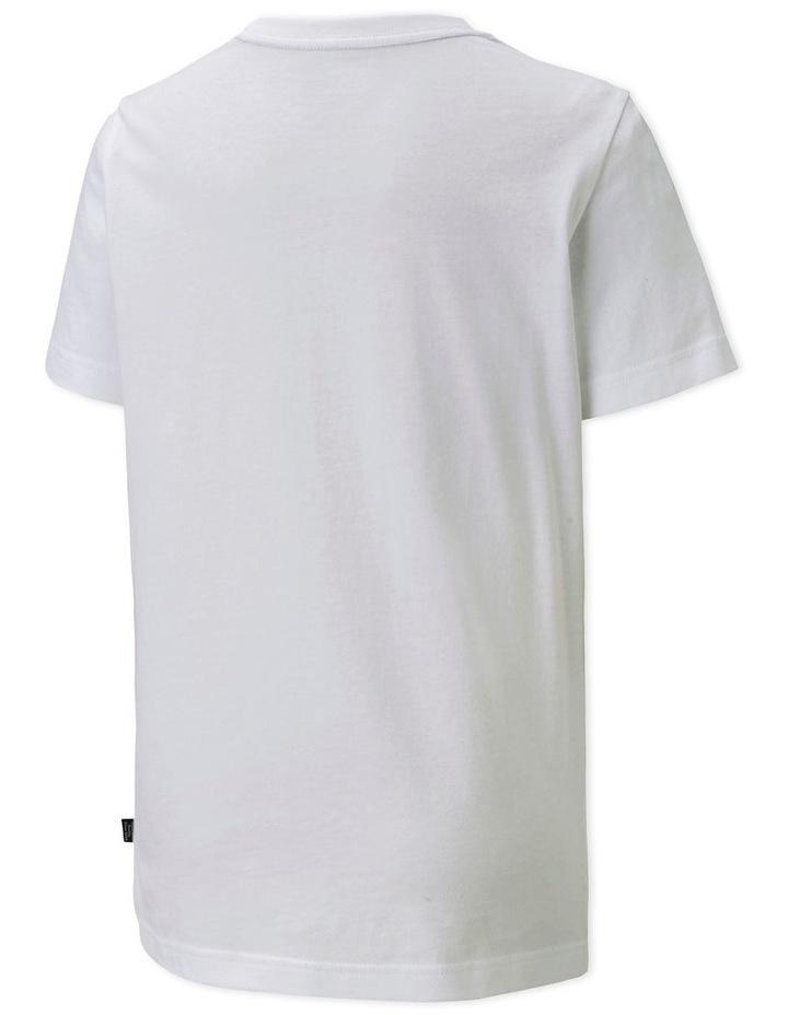 Boys Essential Logo Tee White-Digi Blue image 2