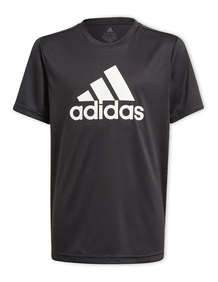 Boys Adidas Designed To Move Big Logo Tee image 1
