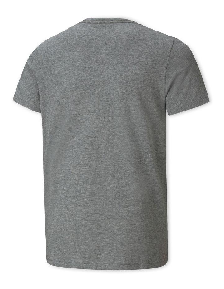 Essentials 2 Col Logo Tee B Medium Gray Heathe image 2