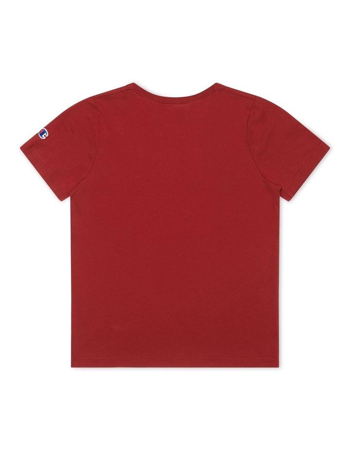 Script T-Shirt Burgundy image 2