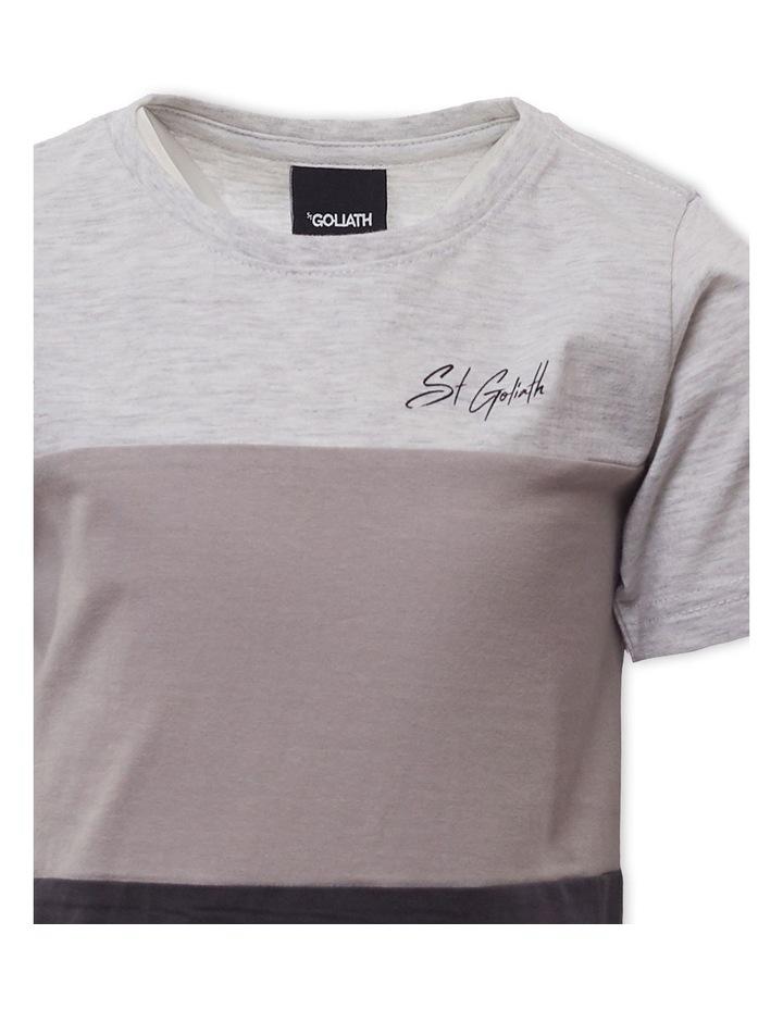 Colour Block Grey Marle T-Shirt image 3