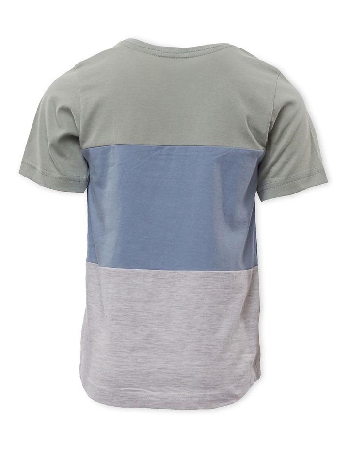 Colour Block Green T-Shirt image 2