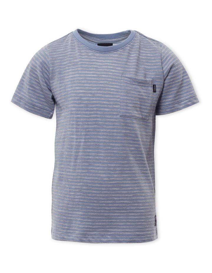 Pocket Stripe Light Blue T-Shirt image 1