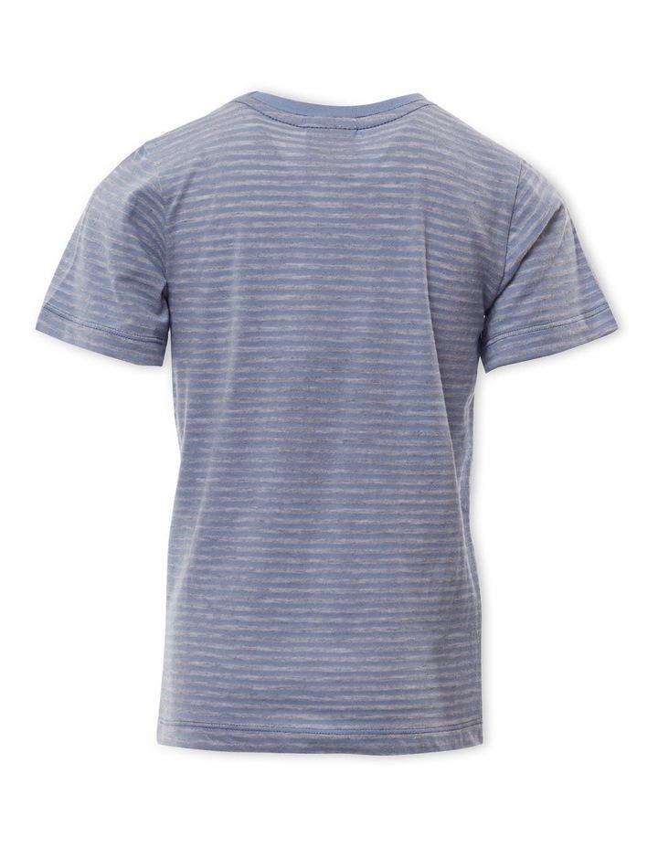 Pocket Stripe Light Blue T-Shirt image 2