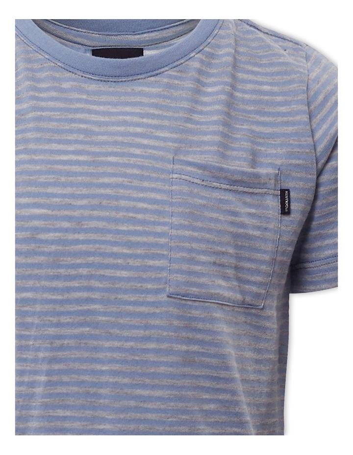 Pocket Stripe Light Blue T-Shirt image 3