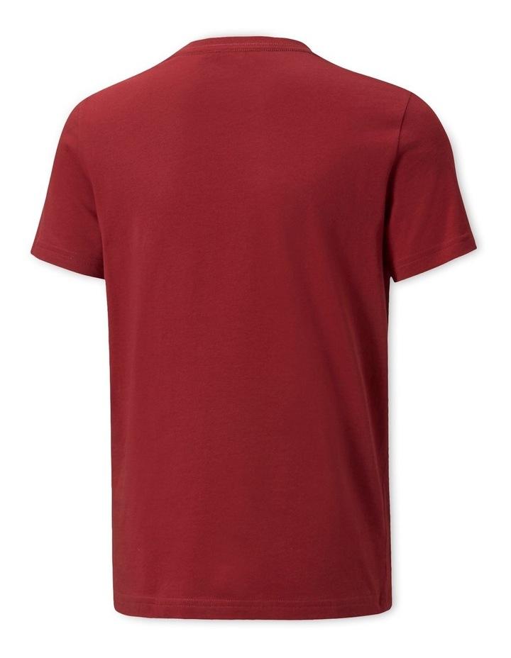 Essentials 2 Colour Logo Crew Neck T-Shirt Red image 2