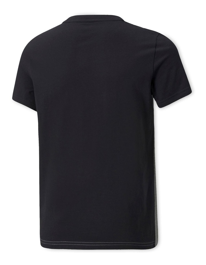 Essentials Colorblock Crew Neck T-Shirt Black image 2