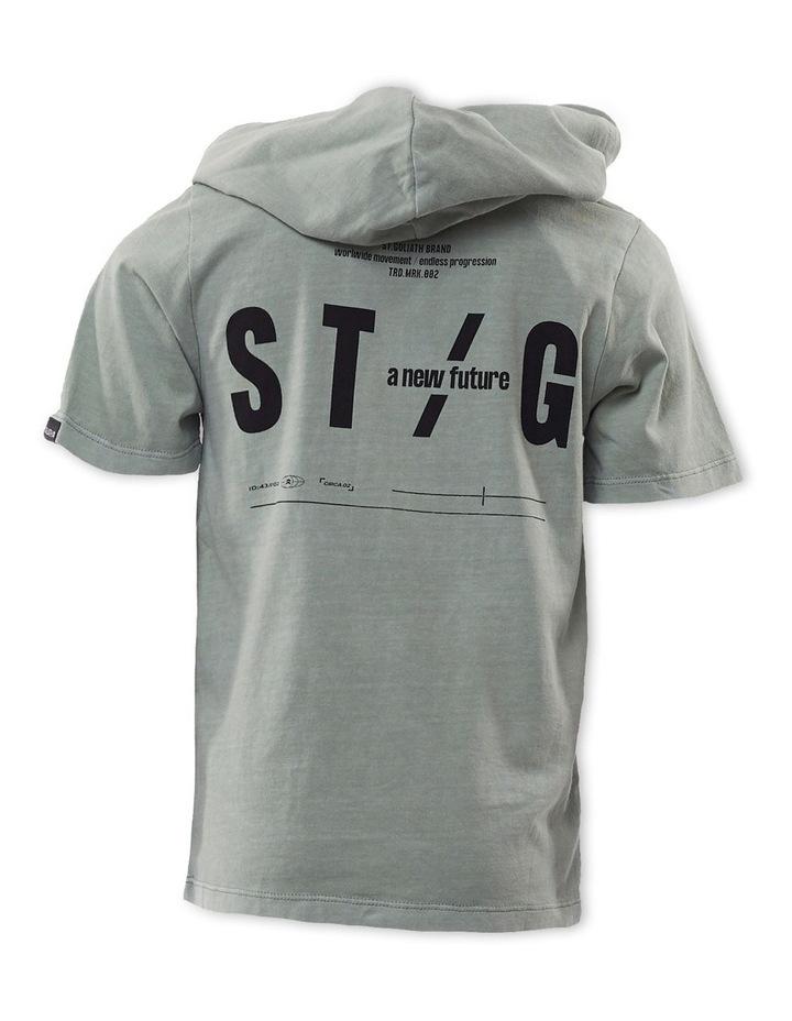 Leo Mint Hooded T-Shirt image 2