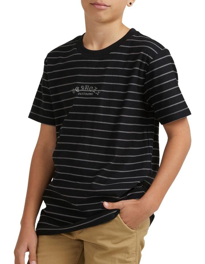 Boys Dialled Stripe Short Sleeve Tee image 1