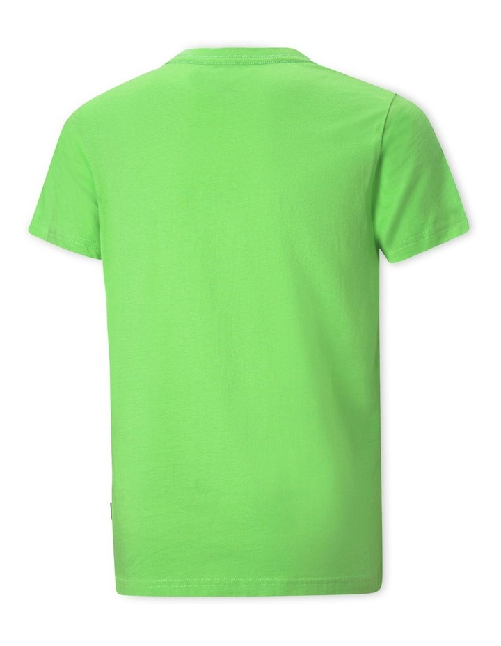Ess  2 Colour Logo Tee Green image 2