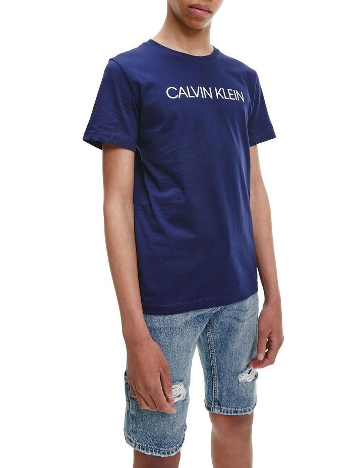 Logo Organic Cotton T-Shirt Blue image 2
