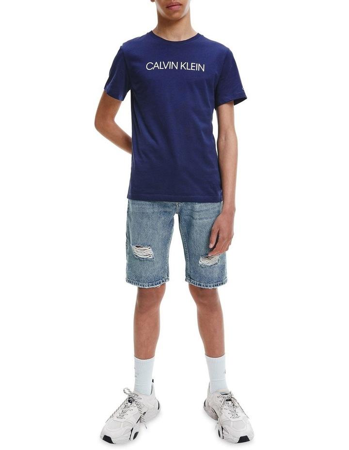 Logo Organic Cotton T-Shirt Blue image 3