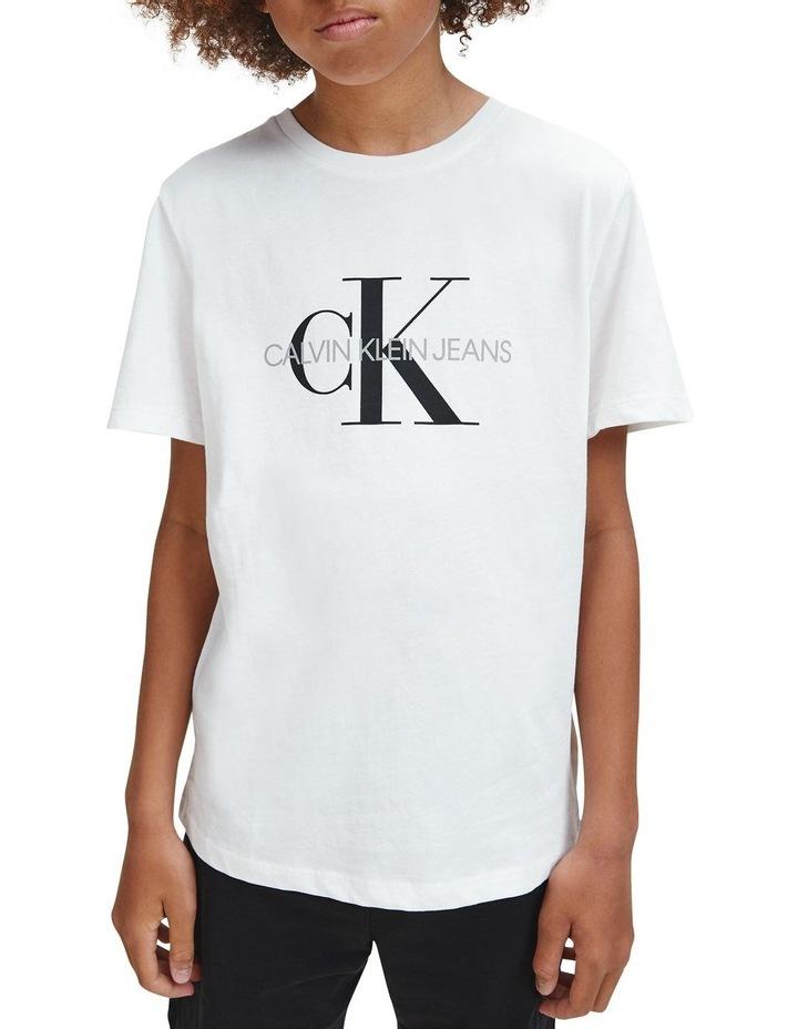 Monogram Logo Organic Cotton T-Shirt White image 2