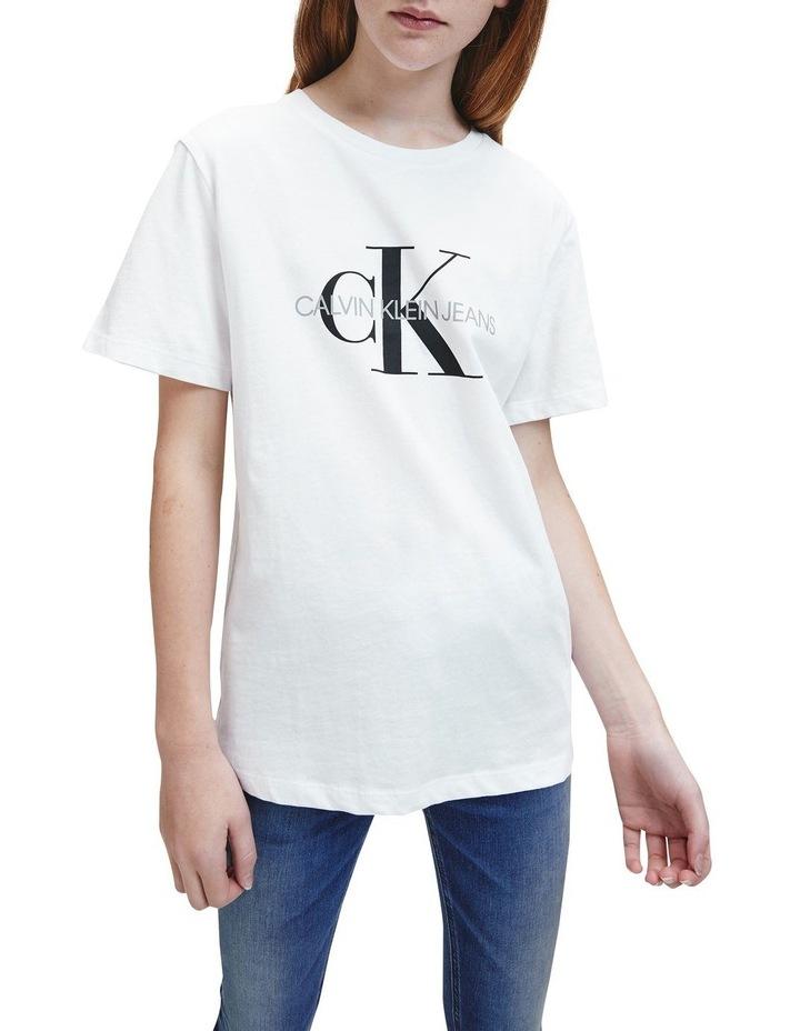 Monogram Logo Organic Cotton T-Shirt White image 3