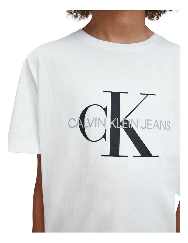 Monogram Logo Organic Cotton T-Shirt White image 4