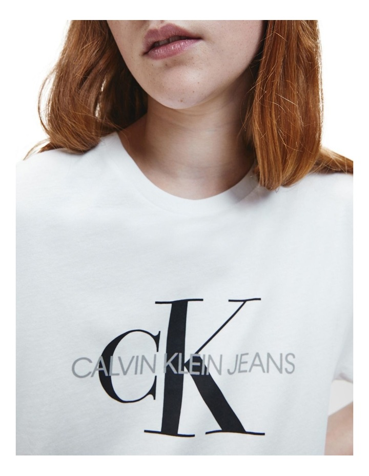 Monogram Logo Organic Cotton T-Shirt White image 5