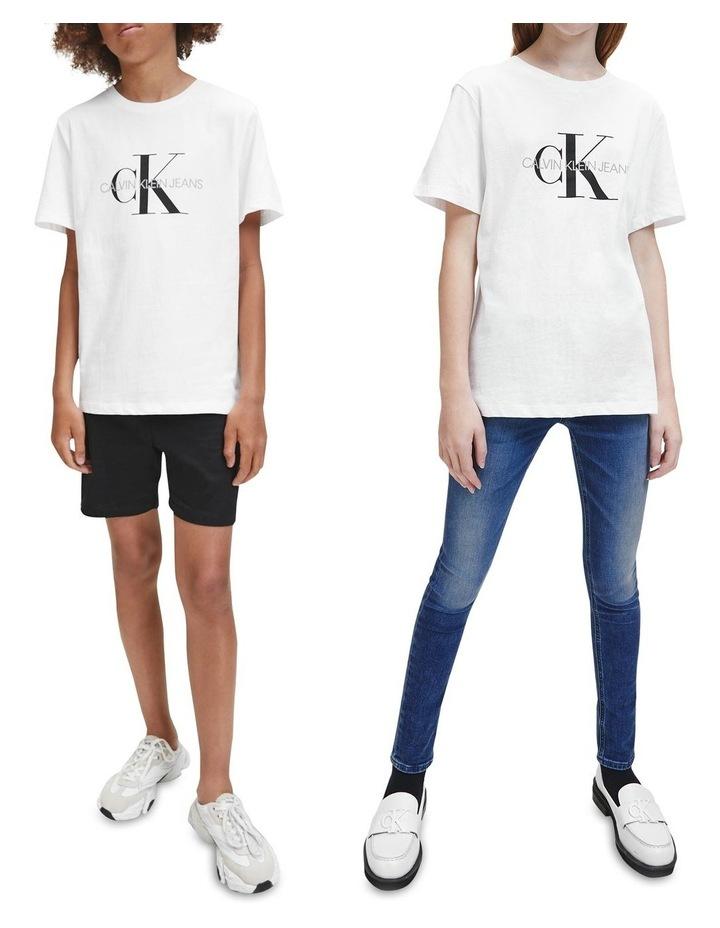 Monogram Logo Organic Cotton T-Shirt White image 6