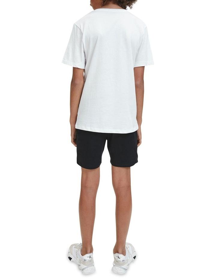 Monogram Logo Organic Cotton T-Shirt White image 7