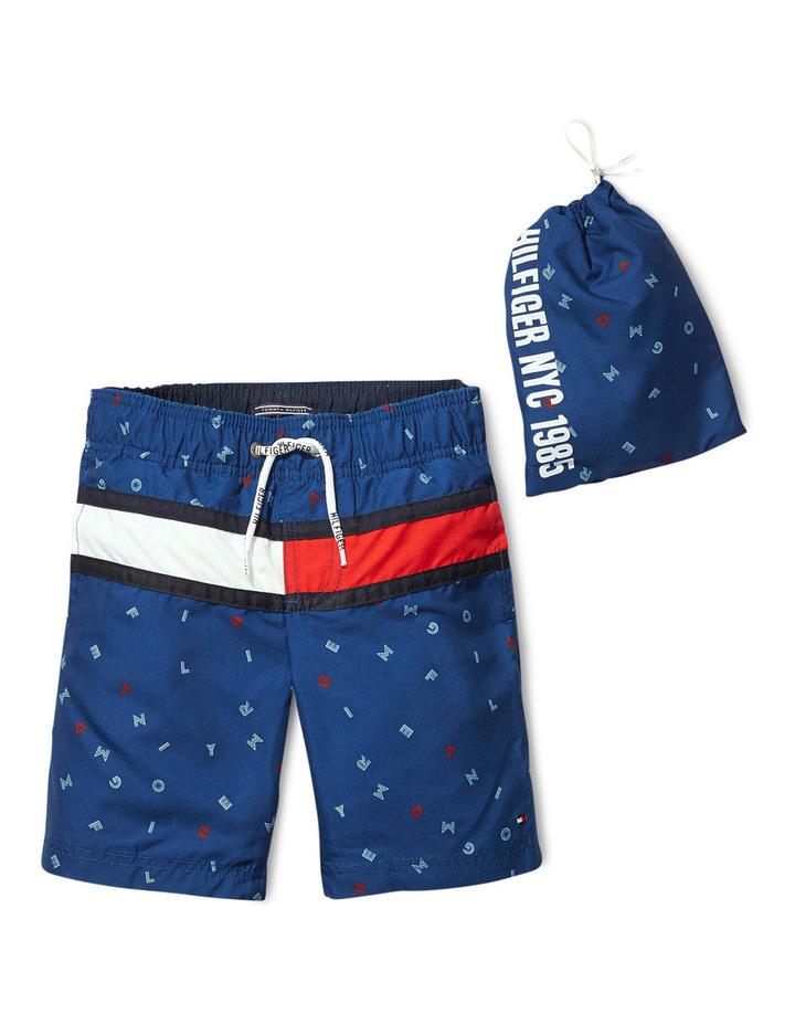 Tommy Hilfiger Letter Flag Estate Blue Swimshort image 1
