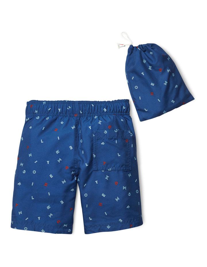 Tommy Hilfiger Letter Flag Estate Blue Swimshort image 2