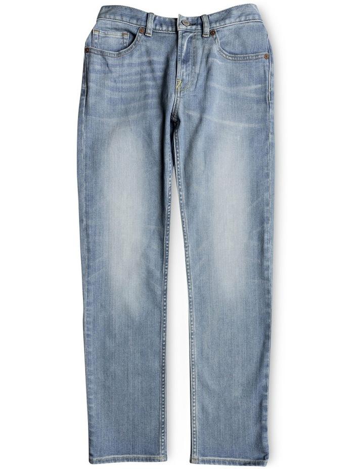 Worker Light Indigo Blue - Straight Fit Jeans image 1