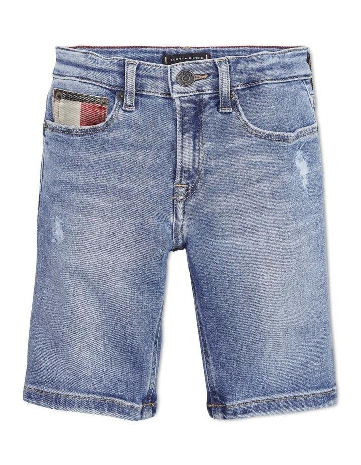 Tapered Slim Fit Denim Shorts image 1