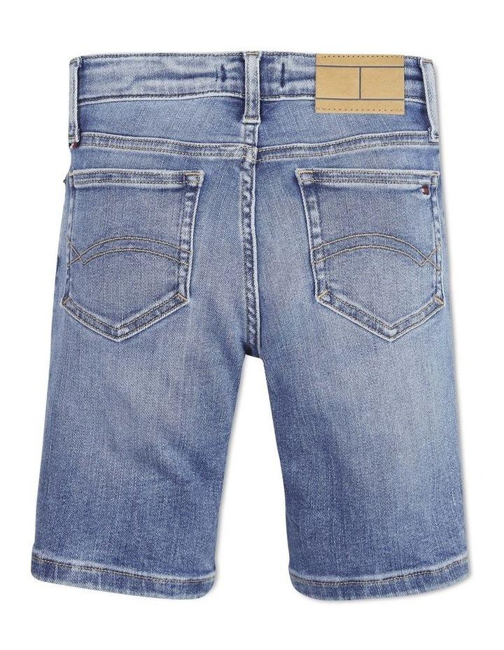 Tapered Slim Fit Denim Shorts image 2