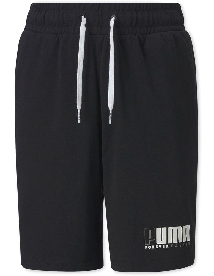 Boys Alpha Jersey Shorts Black image 1