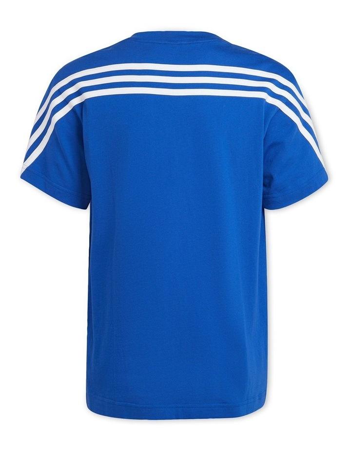Future Icons 3 Stripes Blue/White T-Shirt image 2
