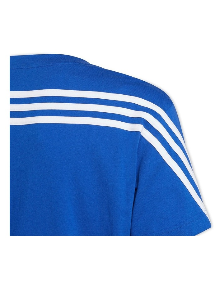 Future Icons 3 Stripes Blue/White T-Shirt image 4