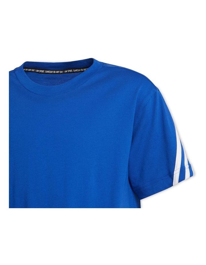 Future Icons 3 Stripes Blue/White T-Shirt image 5