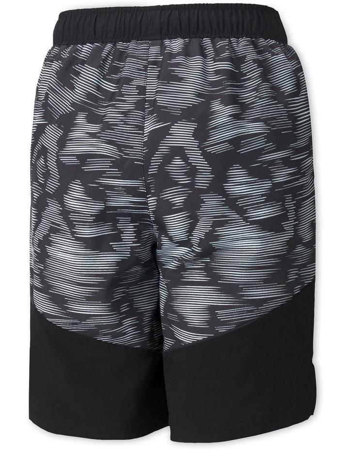 Active Sport AOP Woven Shorts Black image 2