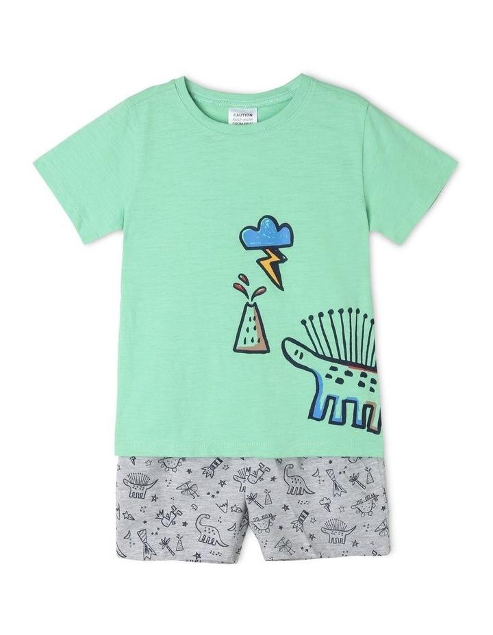 Boys Dinosaur and Volcano Print Pyjamas image 1