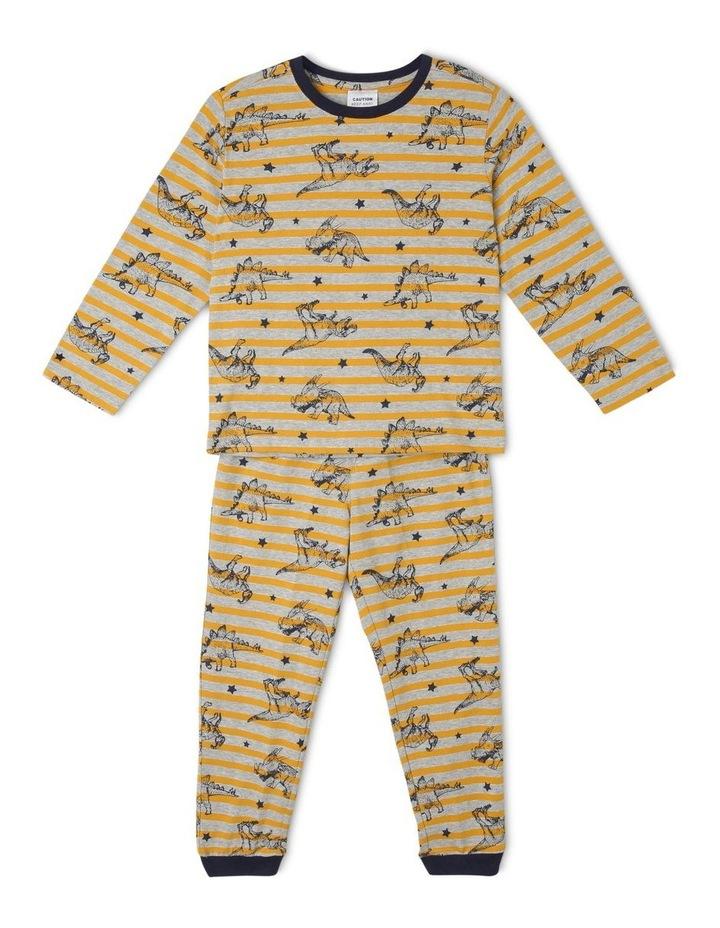 Striped Dino All Over Print Pyjamas image 1