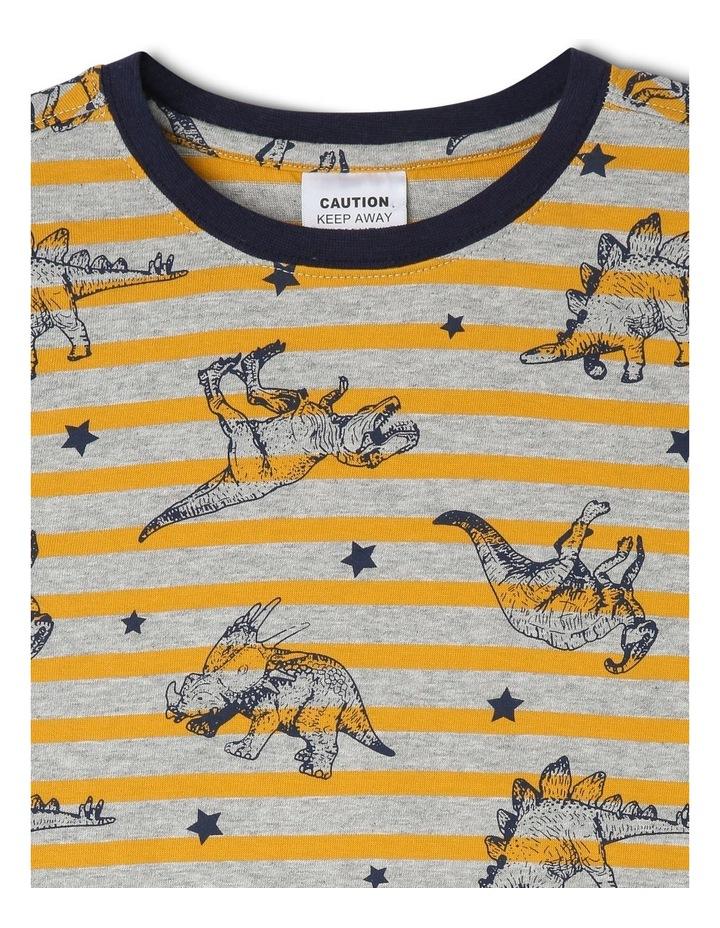 Striped Dino All Over Print Pyjamas image 2