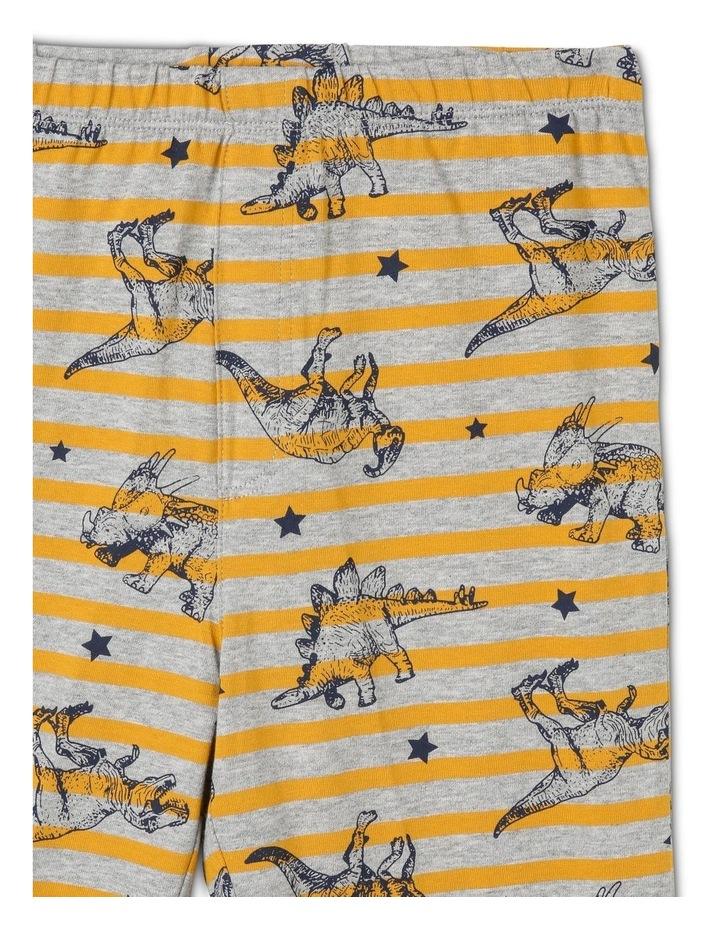 Striped Dino All Over Print Pyjamas image 3