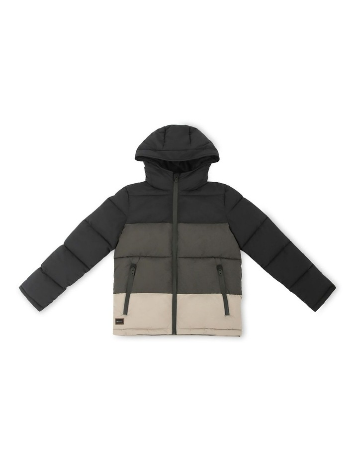 The Heath Black Puffer Jacket image 1
