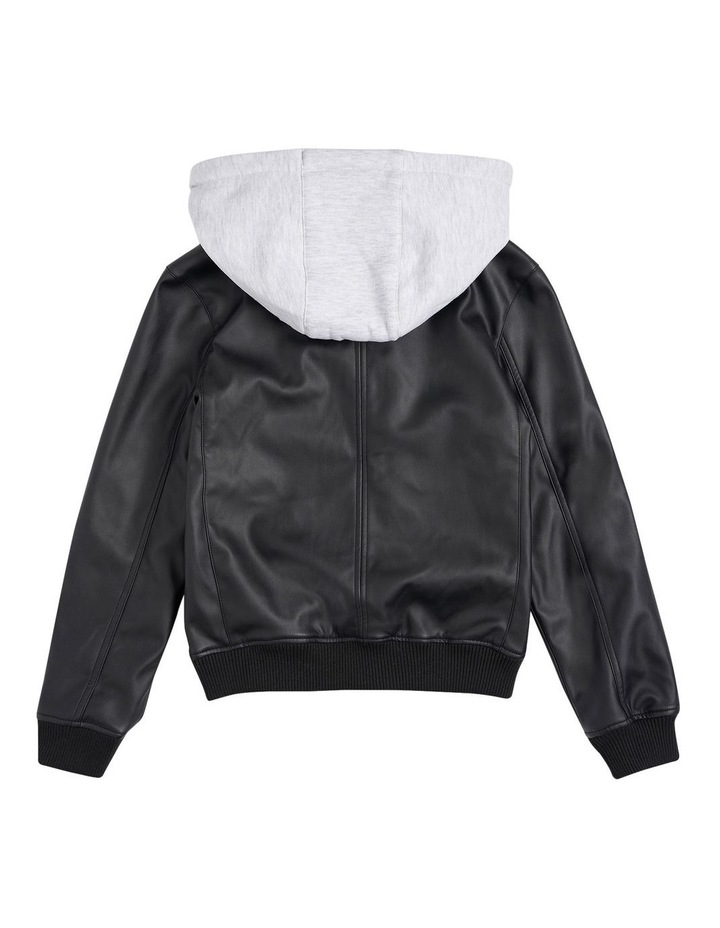 The Spries Black Puffer Jacket image 2